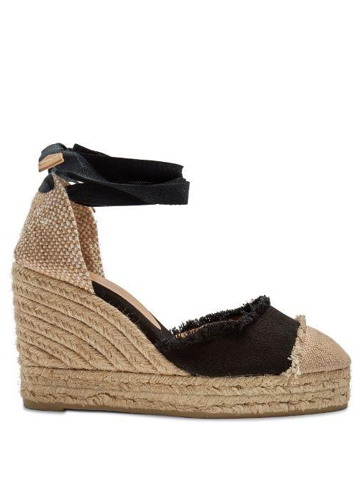 ffc780851c CASTAÑER Catalina canvas wedge espadrilles. #castañer #shoes #flats ...
