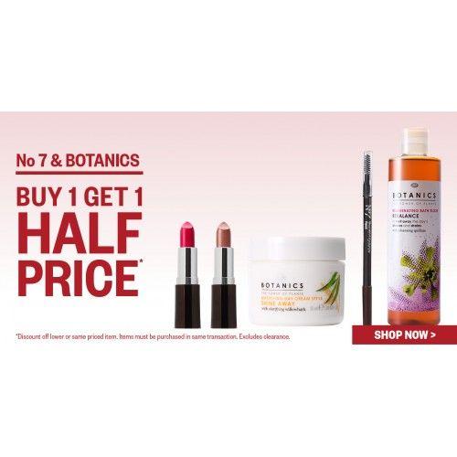 Buy 1, Get 1 Half Price No 7 U0026 Botanics @ Postie   Bargain Bro