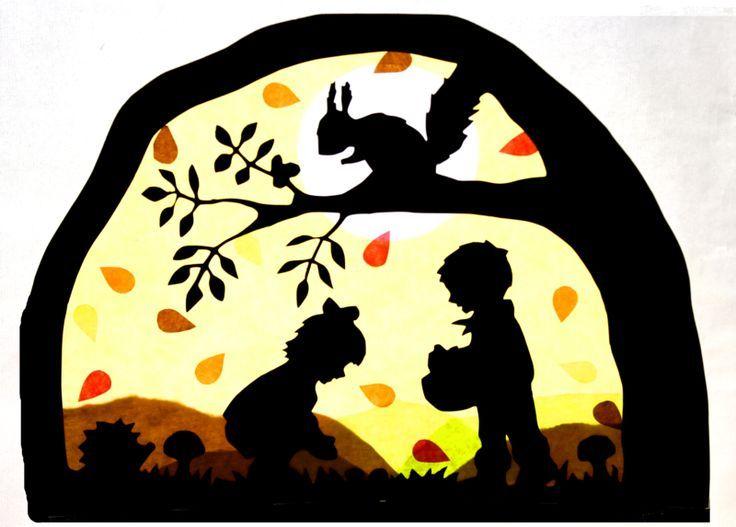 Window decoration – window picture autumn transparency Waldorf – a designer piece …