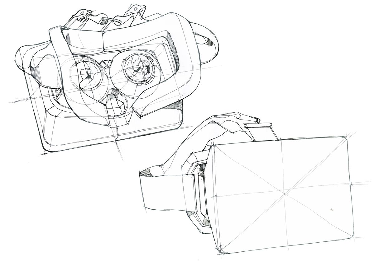 Virtual Reality Head Mounted Display Concept On Behance