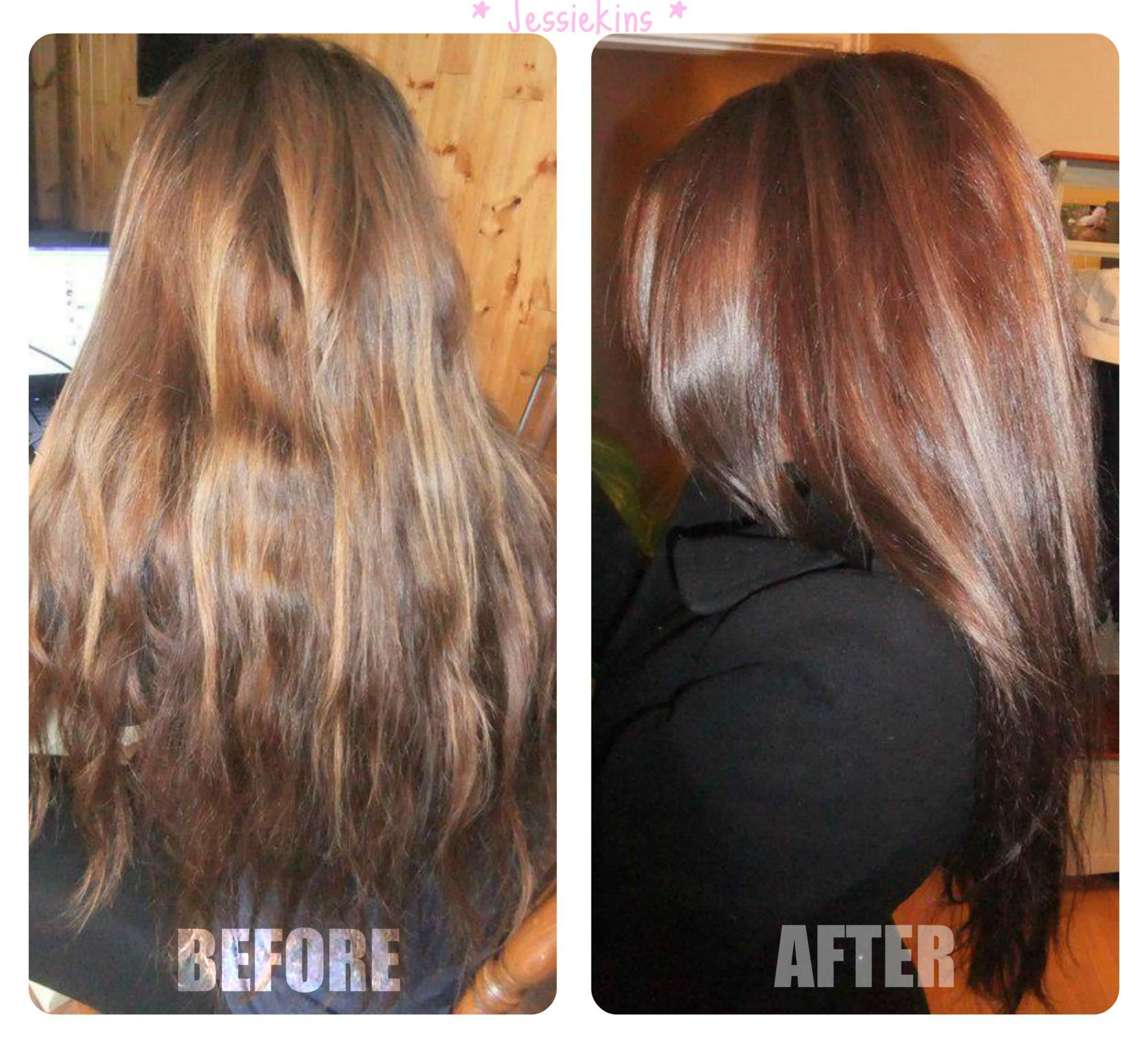 DESIGN: Rich Chocolate Hair colour Correction to remove ...