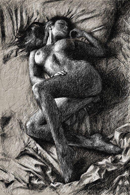 Fine art erotic drawings