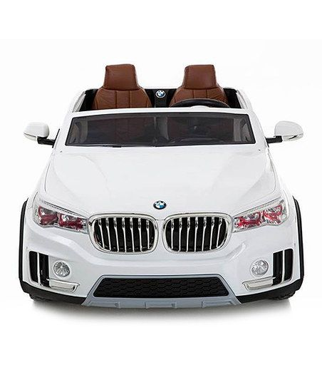 best ride on cars white super two seater car zulily