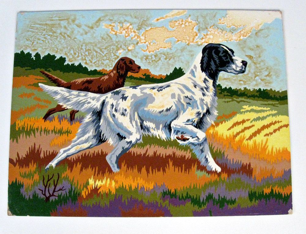 Bird Dogs In 2019 Paint By Number Vintage Dog Paintings