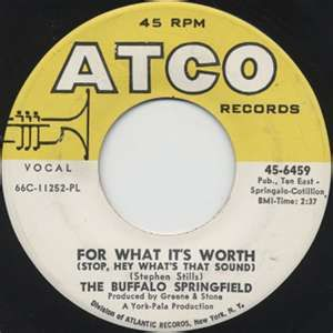 Buffalo Springfield For What It S Worth 1967 For What It S Worth Pop Rock Music