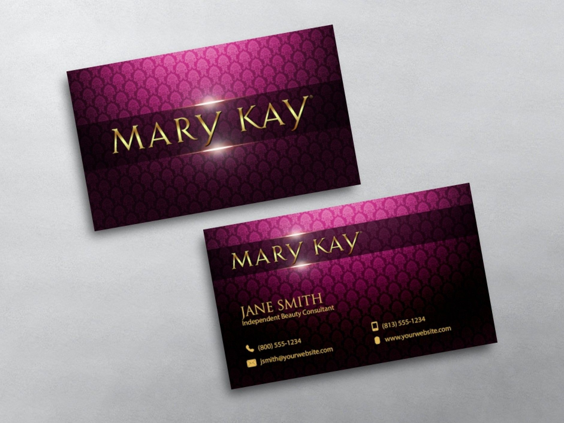 custom mary kay business card printing for mary kay independent