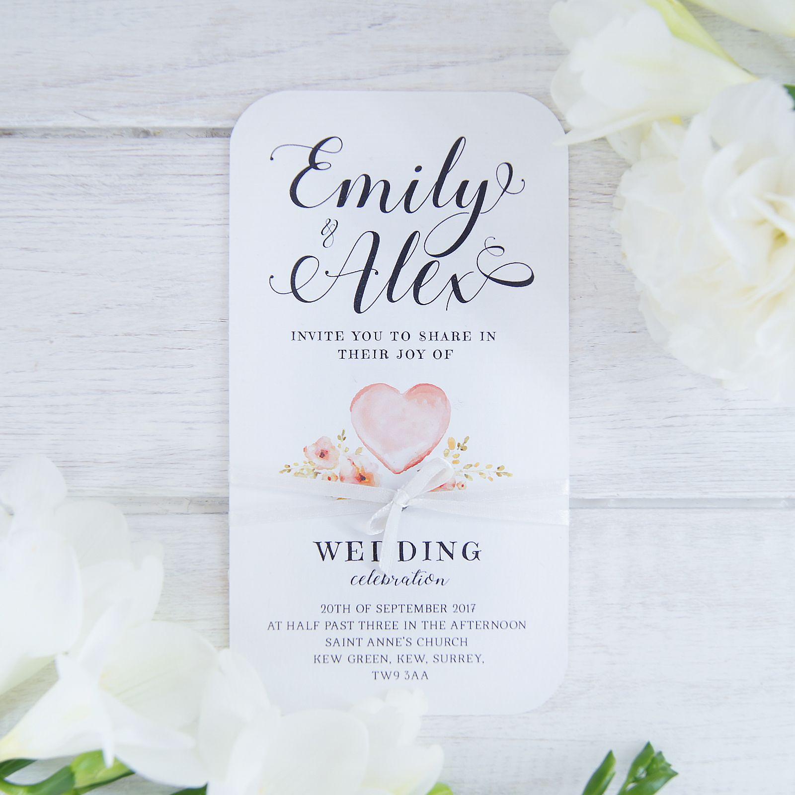 Personalised Day Invitation Card, Rustic Invitation Tag, Luxury ...