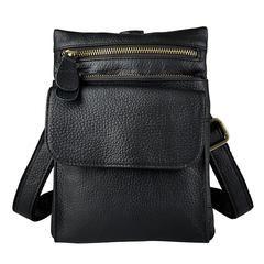 c040b698 Leather Belt Pouch Mens Small Cases Waist Bag Hip Pack Belt Bag Fanny Pack  Bumbag for Men