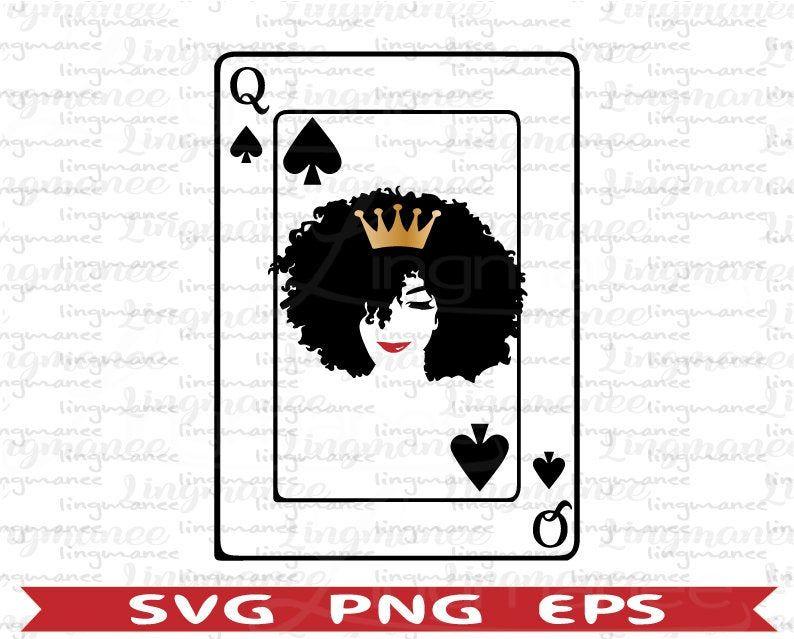 Black Queen With Crown Svg Melanin Black Queen Svg Afro Etsy Queen Of Spades Queen Of Spades Tattoo Black Queen