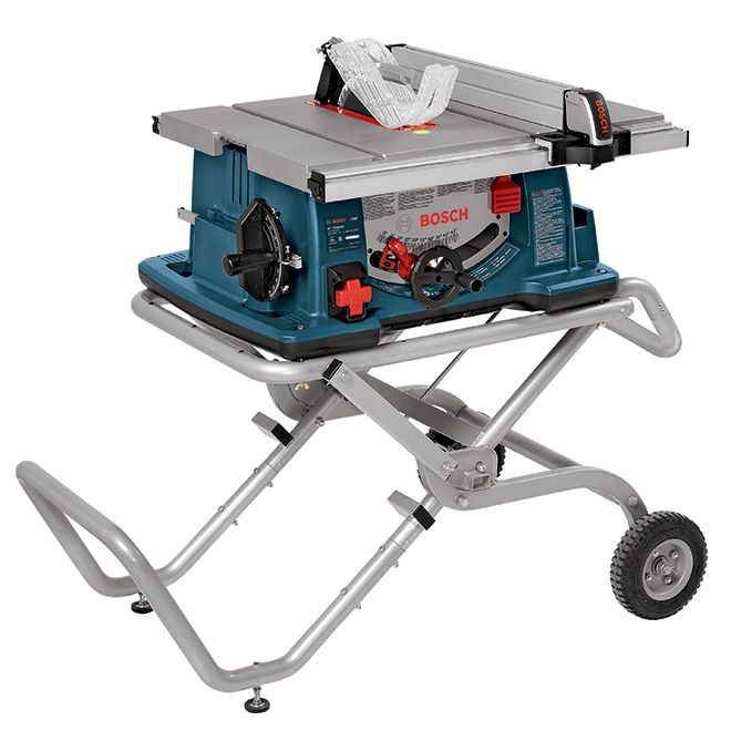 Bosch Worksite Table Saw With Wheeled Stand 10 4100 10 Rona Best Table Saw Portable Table Saw Table Saw Stand