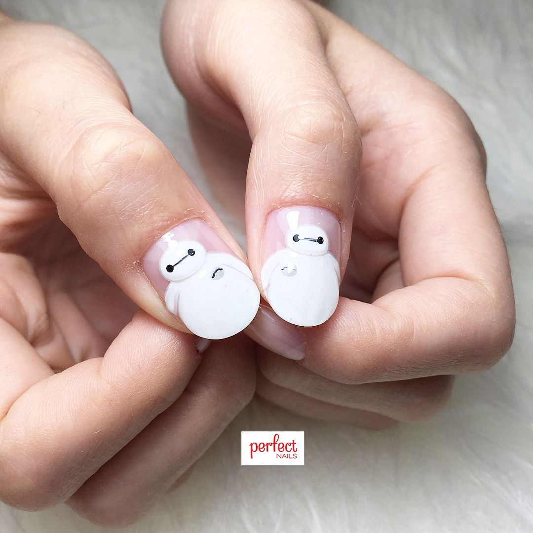 big hero 6 baymax #nails #nailart