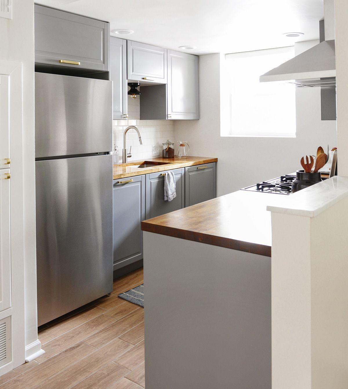 The Evolution of Our IKEA Kitchen! | Butcher block kitchen, Kitchen ...