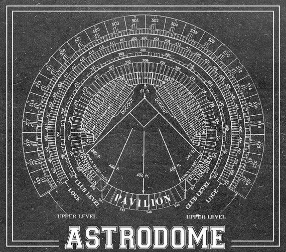 Print of astrodome vintage blueprint photo paper by clavininc print of astrodome vintage blueprint photo paper by clavininc malvernweather Choice Image