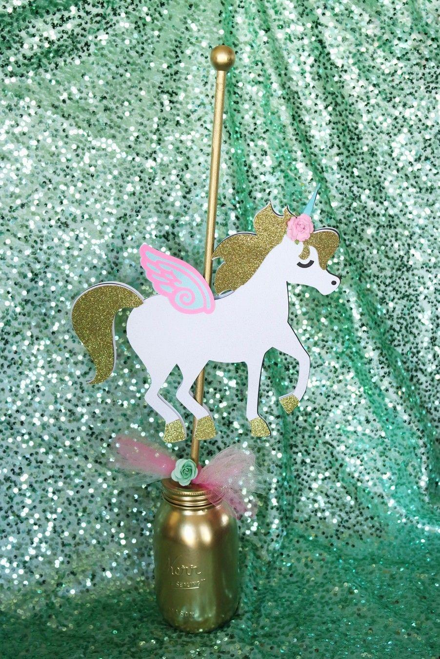 Seruhrosedesigns Carousel Unicorn Centerpieces Pastel Pink