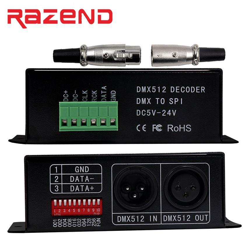 Led Ws2811 Ws2812b Tm1804 Tm1809 Tm1812 Ws2812b Dmx Decoder Decoder Led Pixel Dmx512 Controller Dc5v 24v Bc 802 1809 Light Accessories Dmx Music Instruments