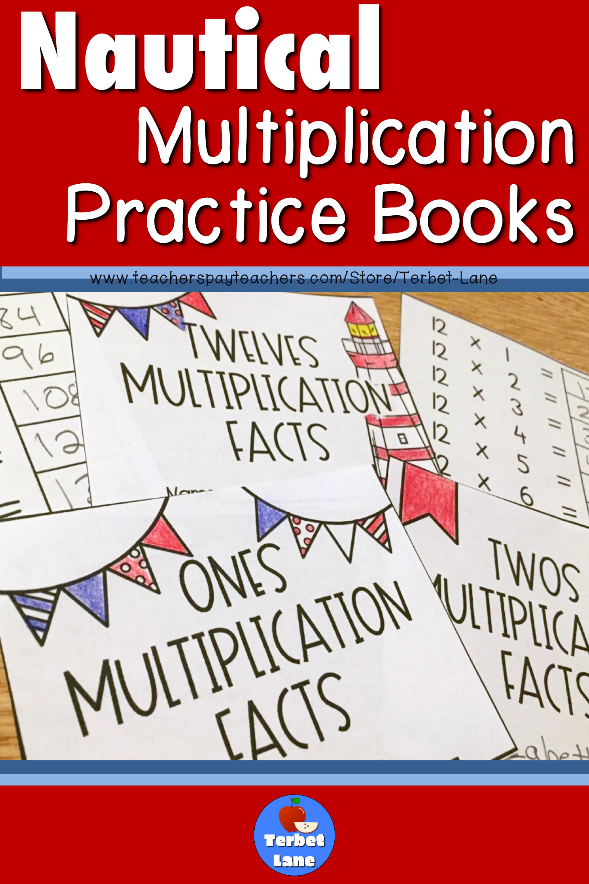 Multiplication Facts Nautical Theme