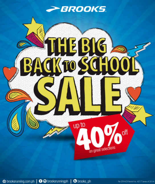 be0a437035 Brooks The Big Back to School Sale May - June 2014