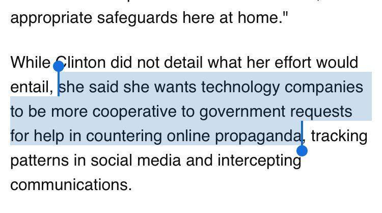 #millennial #conservative #progressive #neverhillary  Dangerous Talk of Media Control from Hillary Clinton
