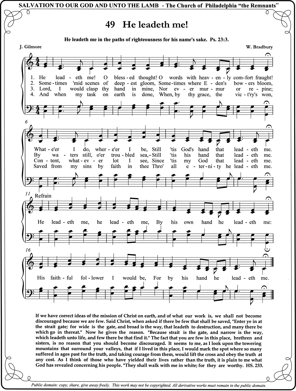 He Leadeth Me Praise Songs Gospel Song Hymns Of Praise