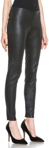 Victoria Beckham Leather Legging in Black - Lyst  vbcollection ... 51fb6d38fb35