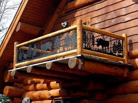 Log Cabin Loft Railing Ideas Google Search