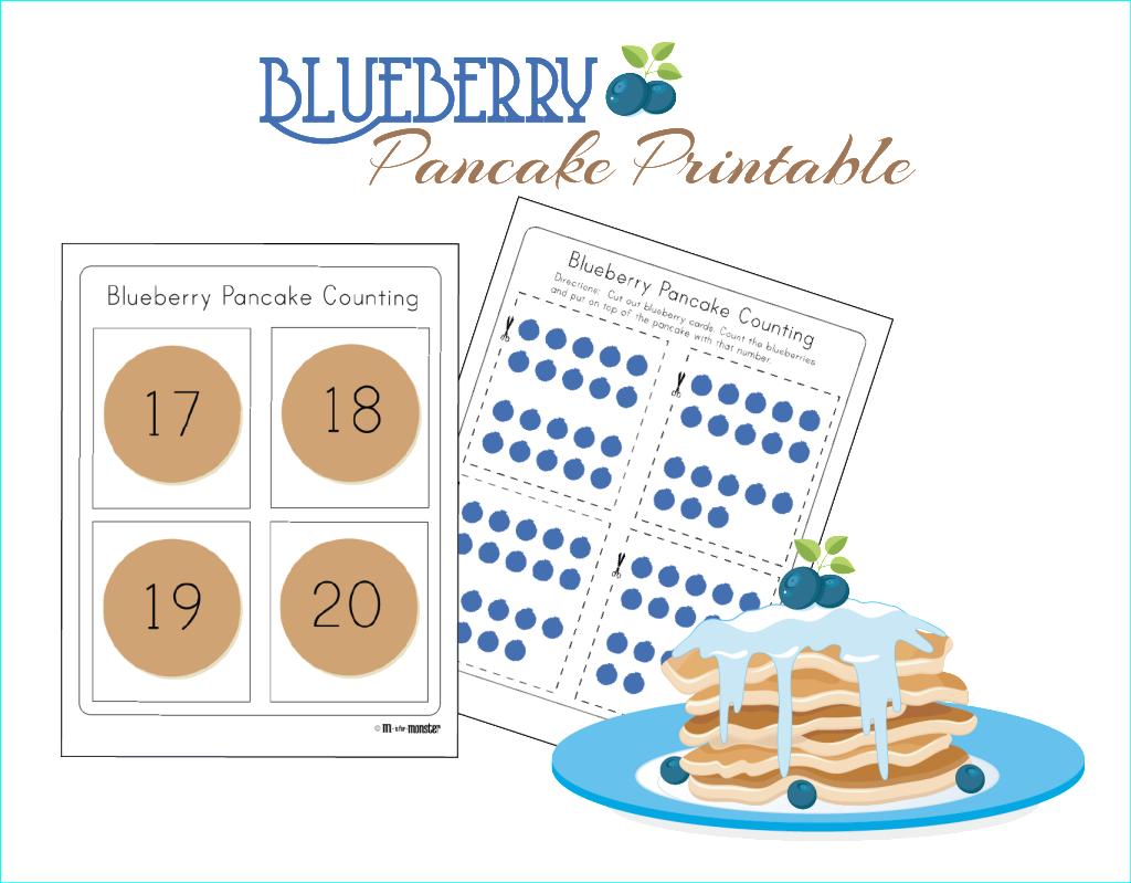 Blueberry Pancake Counting Printable