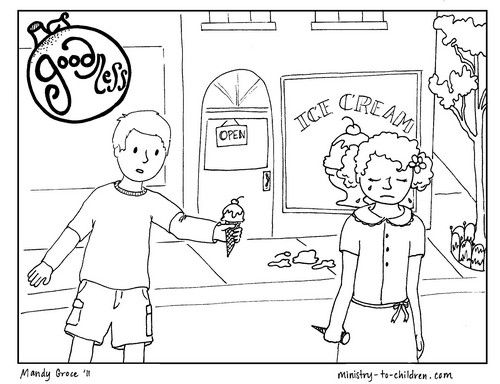 Printable Coloring Page About Goodness For Kids With Images