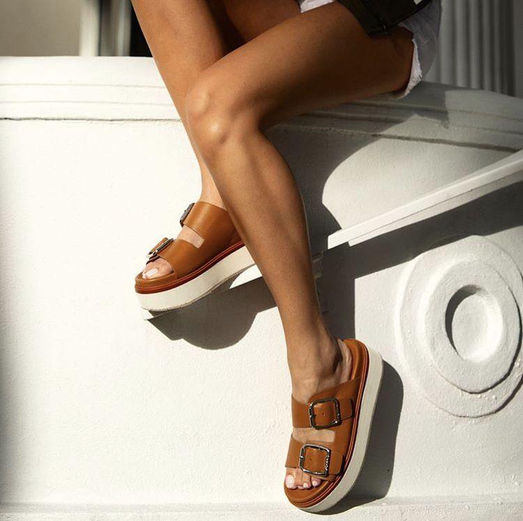 J/slides, Tan leather, Leather