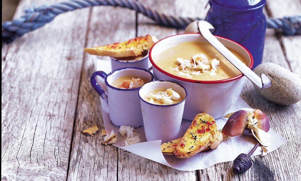 Recipe: Crab soup with chilli toasts