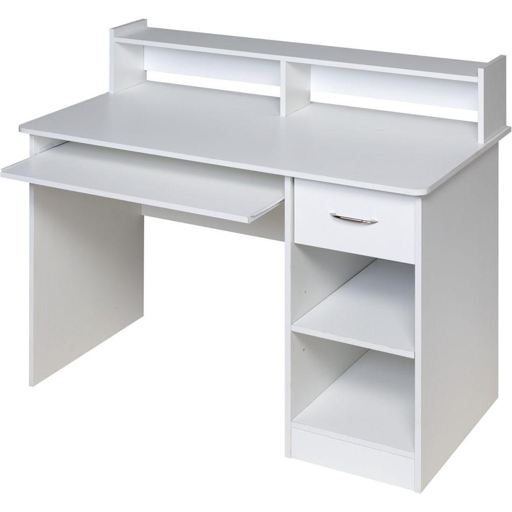 Onespace Workstation Desk White 50 Ld0101 Best Buy White Computer Desk Desk With Drawers White Desks