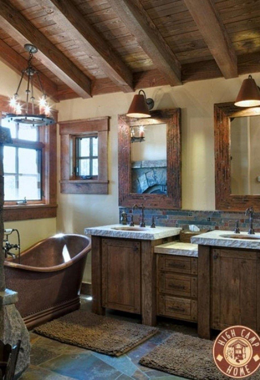 46 Bathroom Interior Designs Made In Rustic Barns Bathroom Rustic Bathroom Designs Rustic