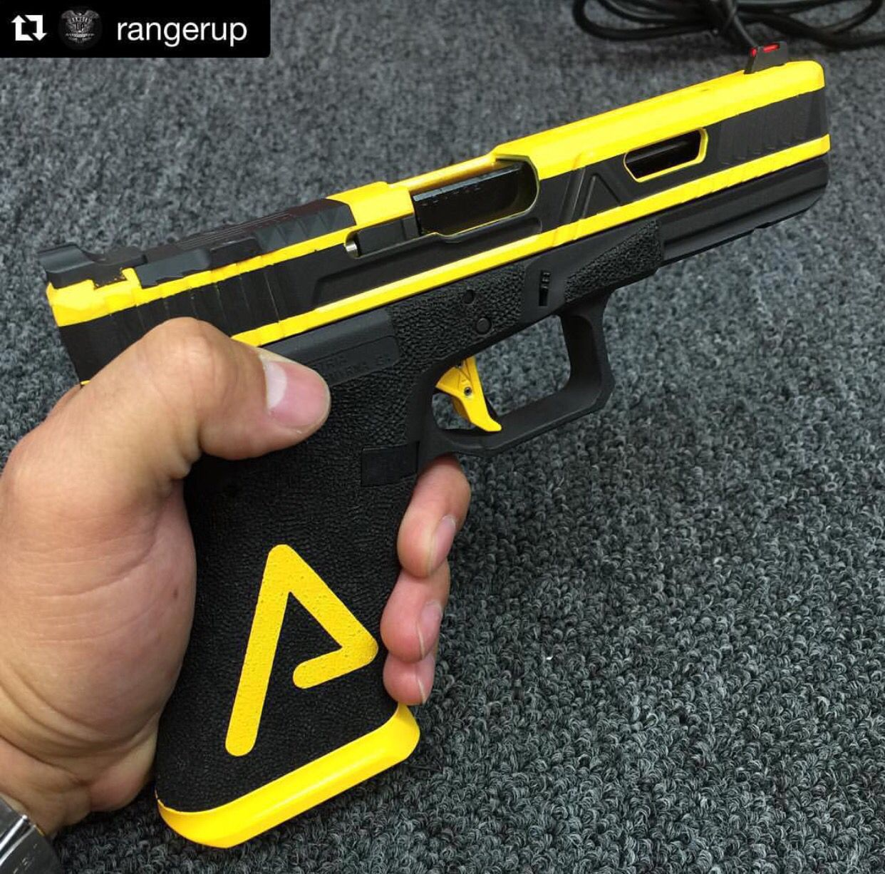 black amp yellow glock commander cody guns amp weapons