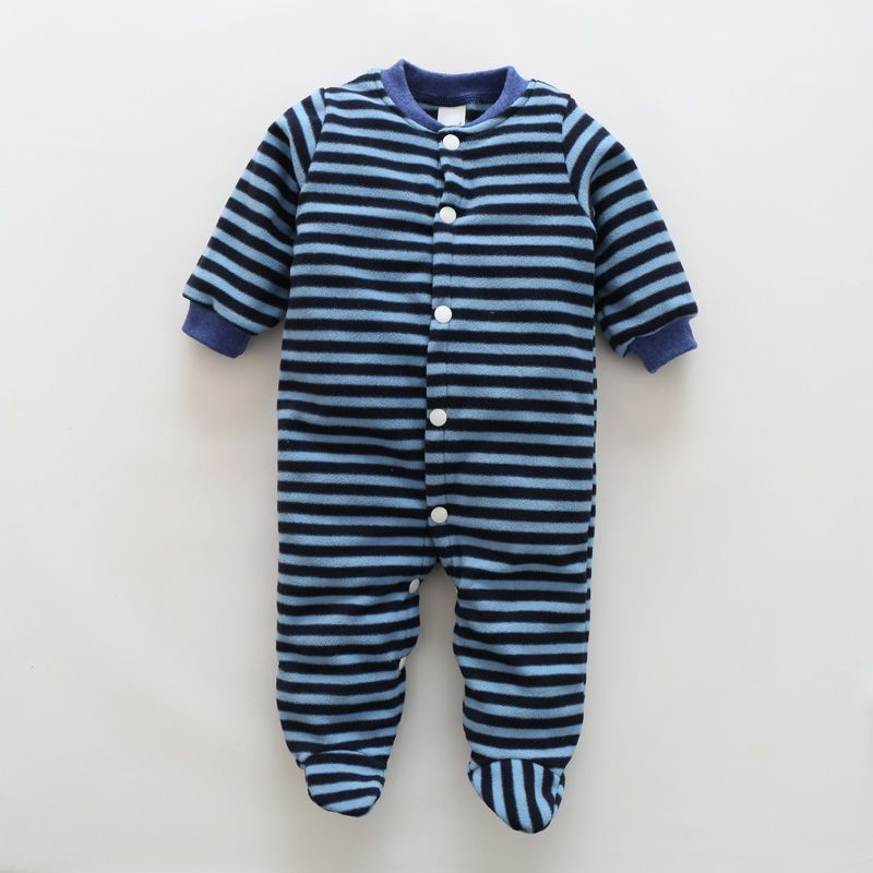 196d0438d245 Newborn Baby Rompers Boy Girl Footed Rompers Animal Romper Long ...