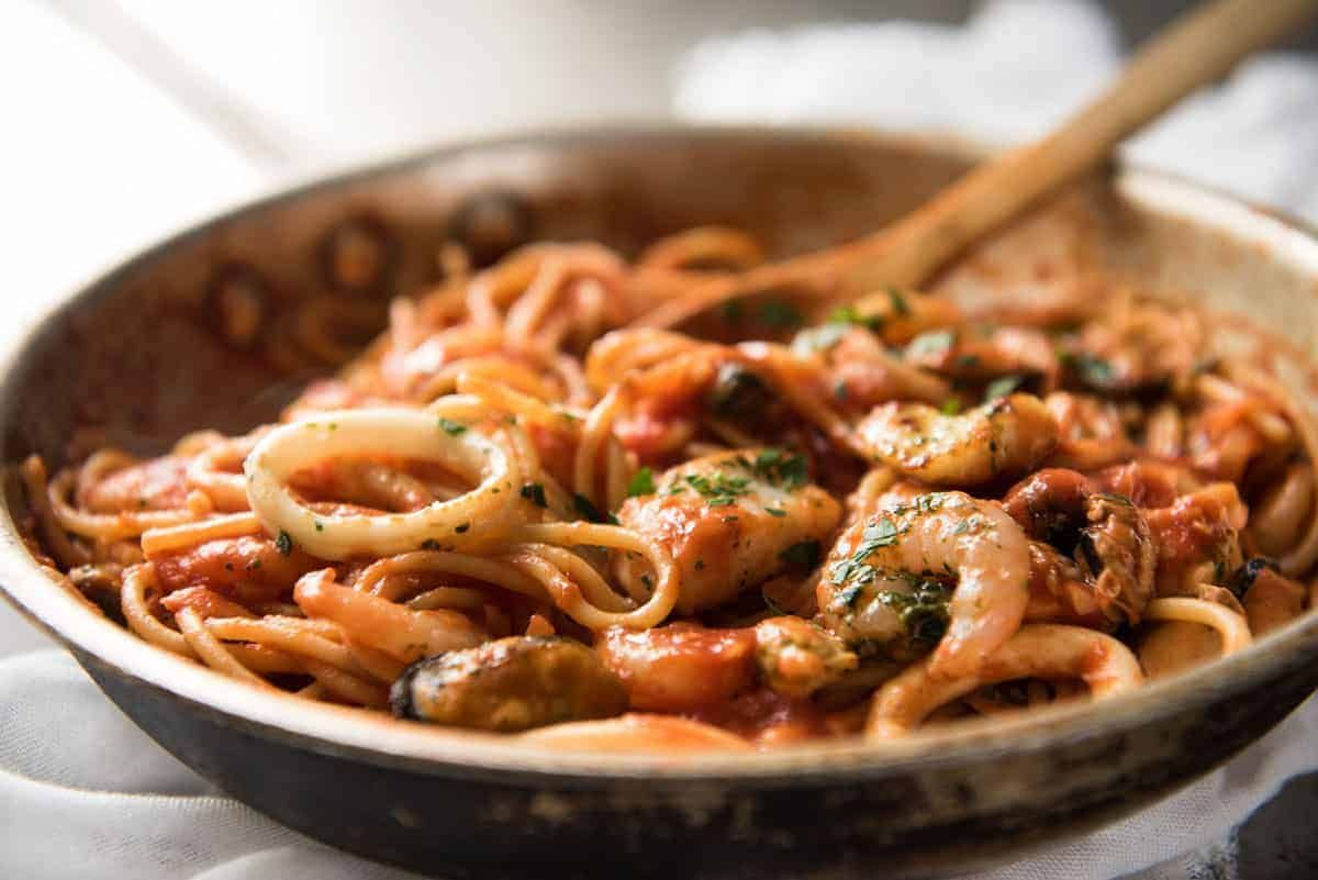 Seafood Spaghetti Marinara Recipe Seafood Recipes Marinara Recipe Seafood Mix Pasta Recipe