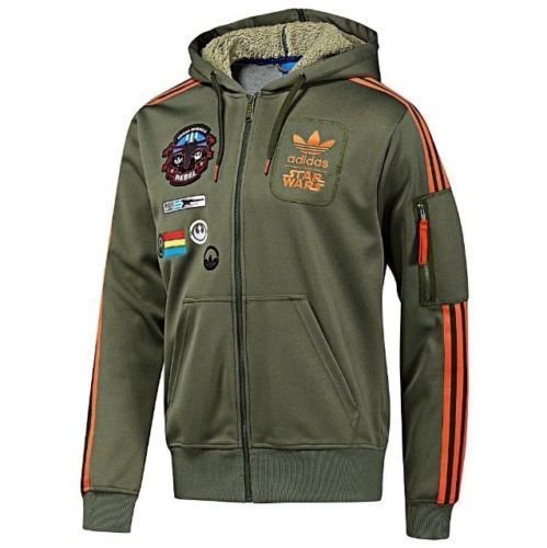 Adidas Star Wars X Wing Hoodie Military Jacket Han Solo Size