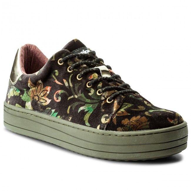 Sneakersy DESIGUAL - Funky Sport Militar 17WSKFA2 2000 Czarny Kolorowy 4edb8c67138