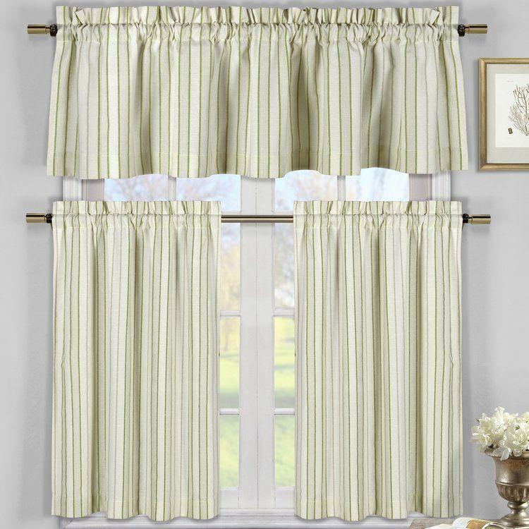 Julius 3 Piece Kitchen Curtain Set Kitchen Curtain Sets Curtain