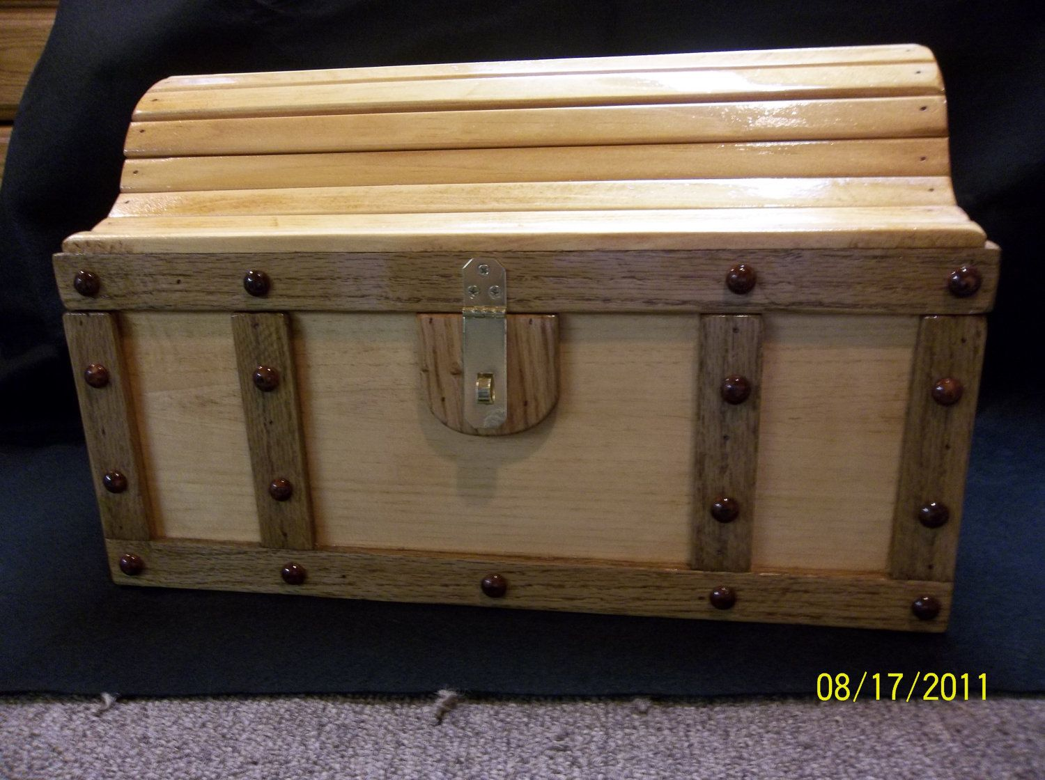 Treasure chest pirate chest in pine would make a good for Toy chest plans