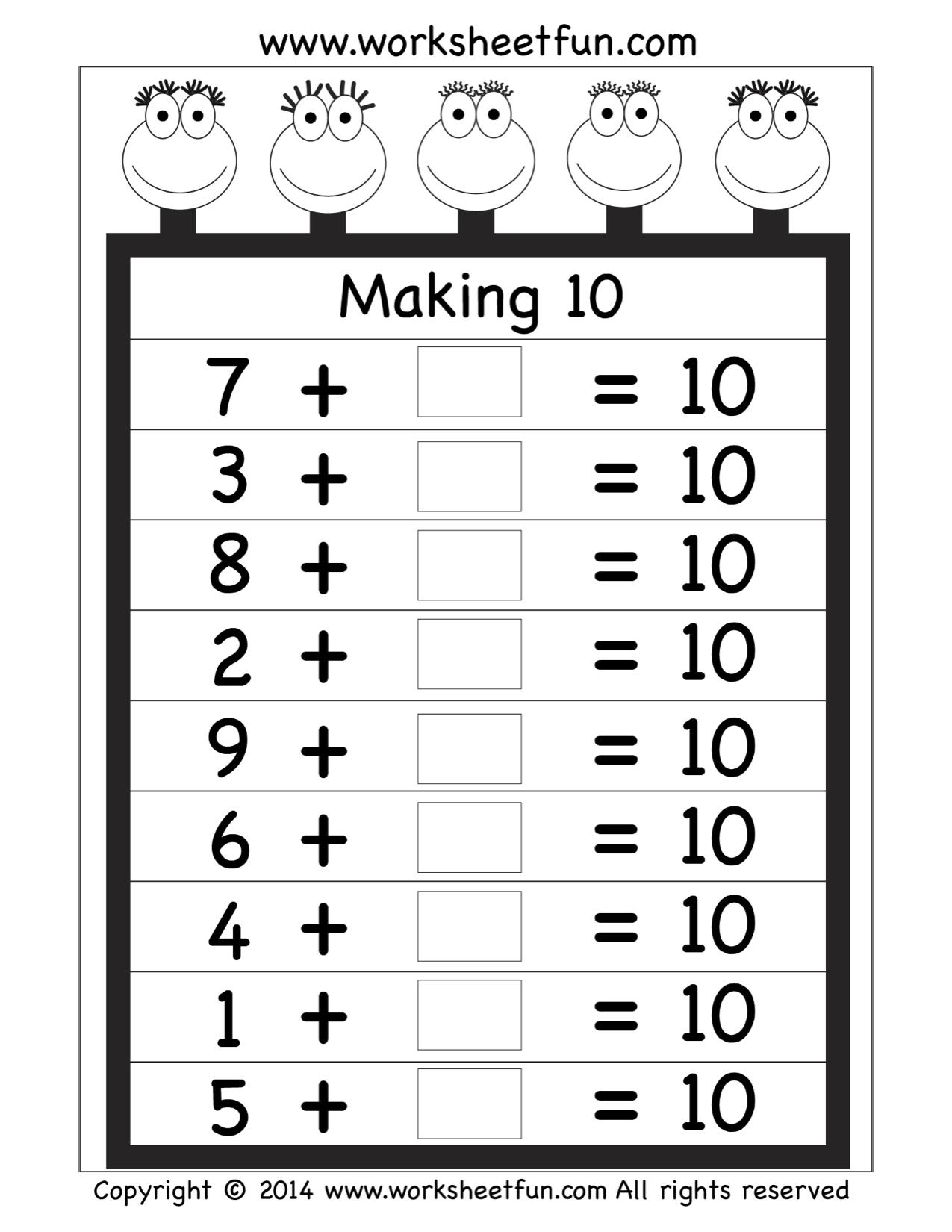 Free Making 10 Worksheet