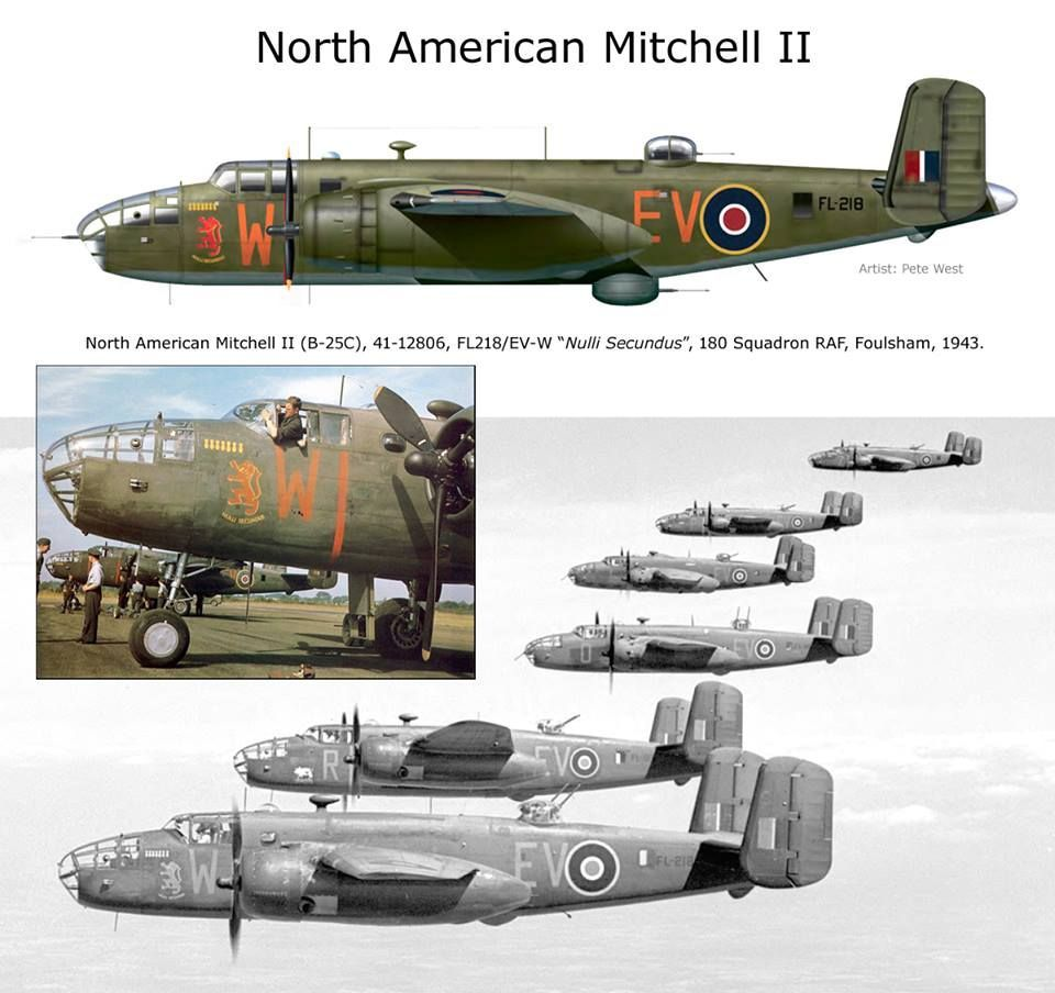 NL B25 RAF | Wwii airplane, Wwii aircraft, Wwii fighters