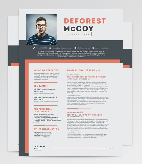 Easy To Customize Free Resume Template Give It Your Personal