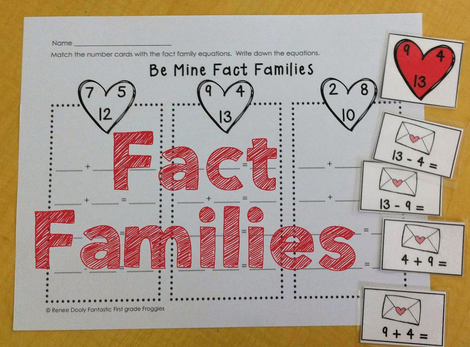 Valentine S Day Math Centers Fact Family Practice