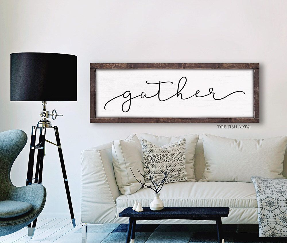 Gather Sign Dining Room Wall Art Rustic Farmhouse Decor