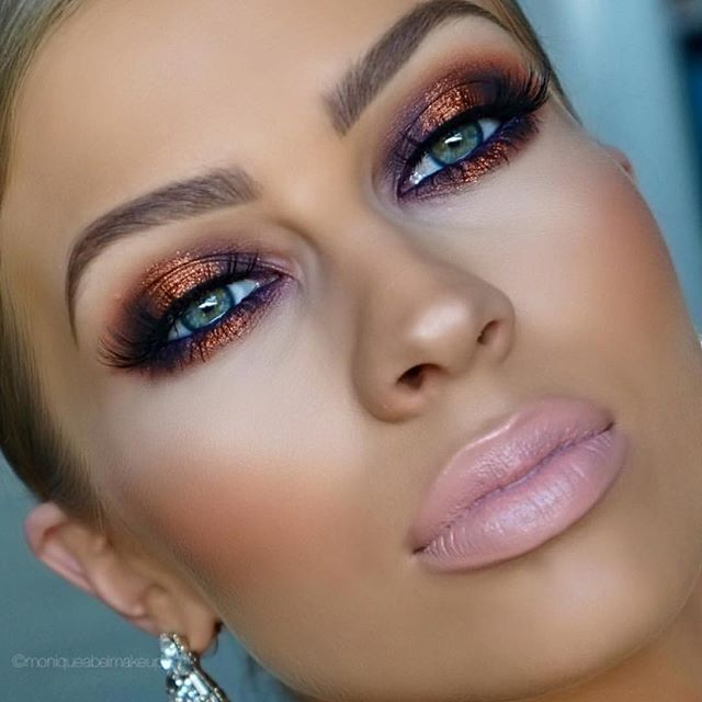 Love this  Copper with a hint of purple ✨@moniqueabelmakeup✨