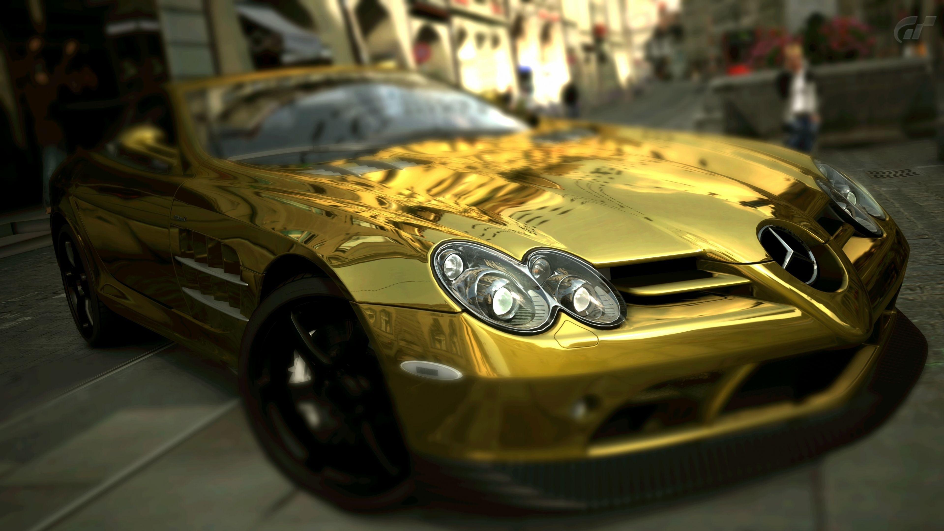 Mercedes Benz Slr Mclaren Gold Wallpaper Mercedes Slr Mclaren