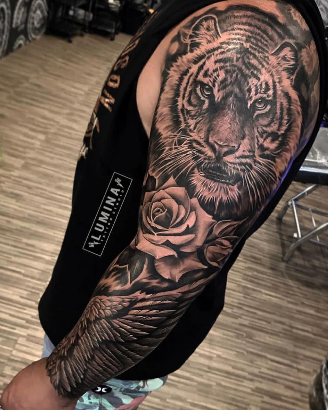 Image may contain one or more people Sleeve tattoos