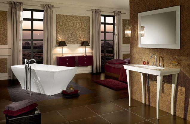 Baignoire ilot parfaite pour une salle de bain ouverte sur la