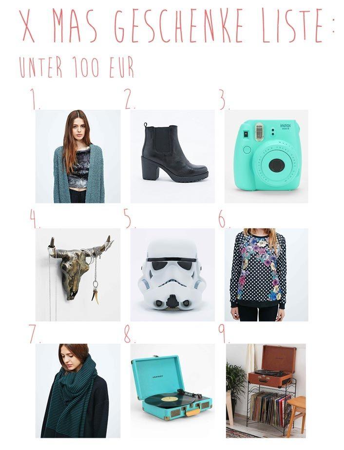 XMAS GESCHENKE LISTE für die beste Freundin UNTER 100 EUR http://xed ...