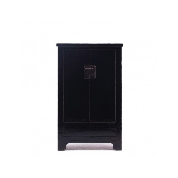 Chinese Antique Wardrobe | Tall Black Lacquer Cabinet | Orchid ($2,060) ❤  Liked On