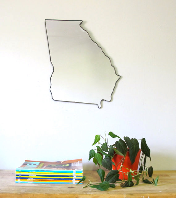 Outline For Accent Wall: Georgia Mirror / Wall Mirror State Outline Silhouette GA